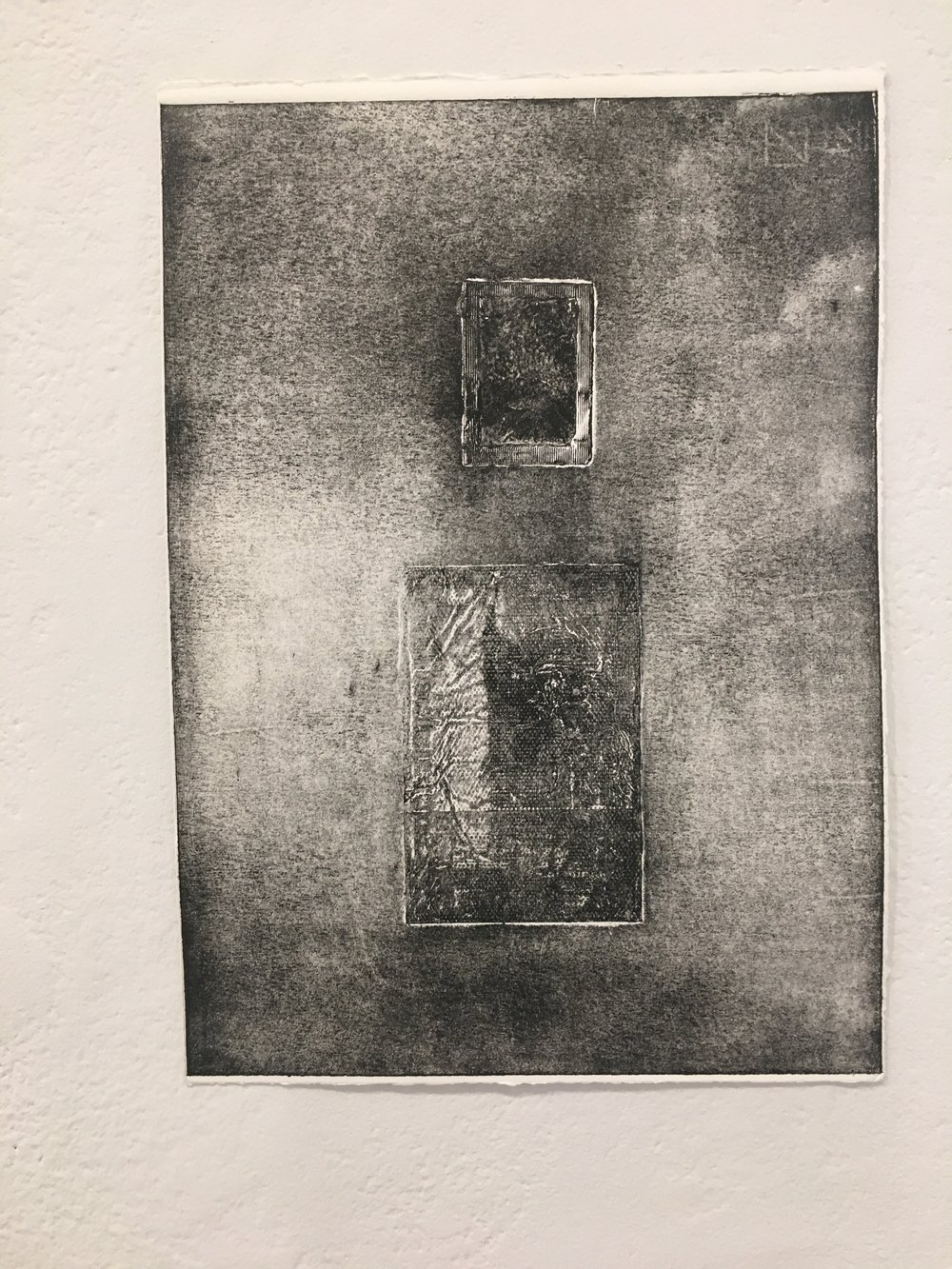 "Xingze Li, ""Untitled #15"" (collograph on paper)"
