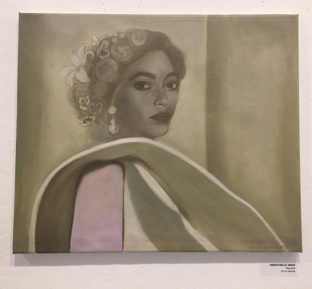 "Jessica Niello- White, ""Beyonce"" (oil on canvas)"