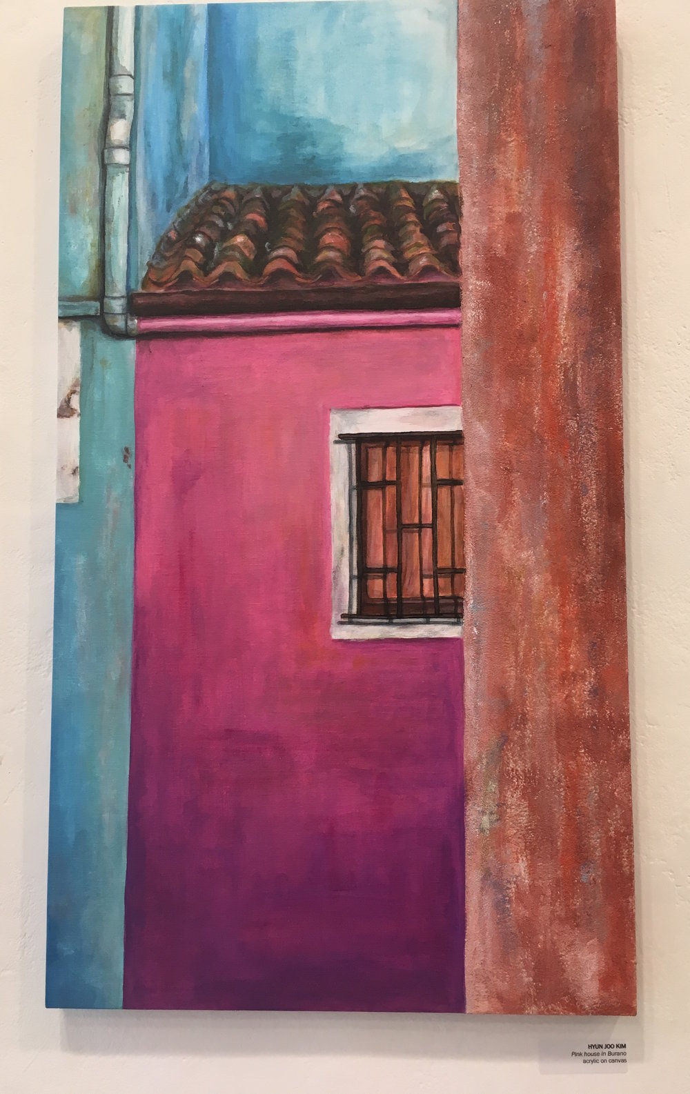 "Hyun Joo Kim, ""Pink House in Burano"" (acrylic on canvas)"