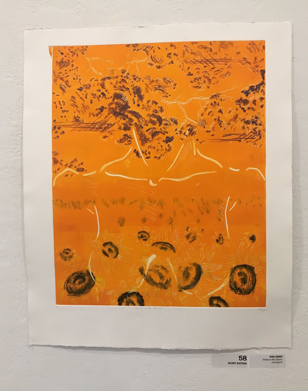 "Thea Zwier, ""Thrive in the Storm"" (monoprint)"