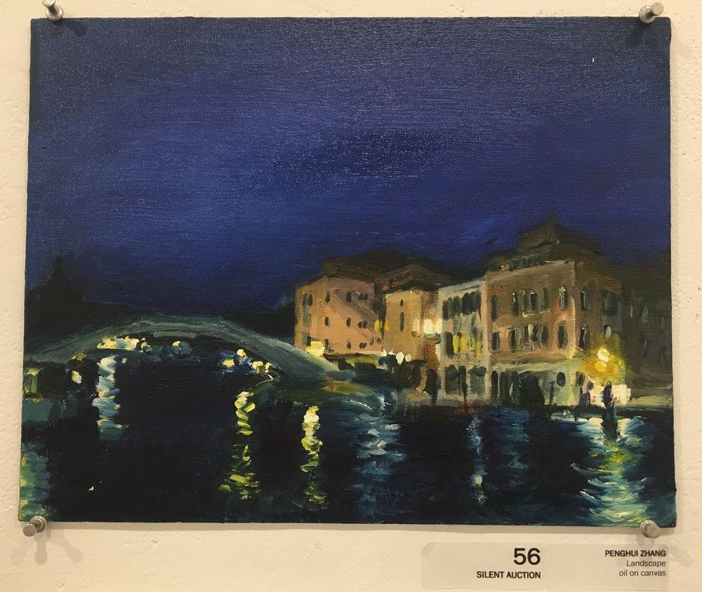 """Penghui Zhang, """"Landscape"""" (oil on canvas)"""