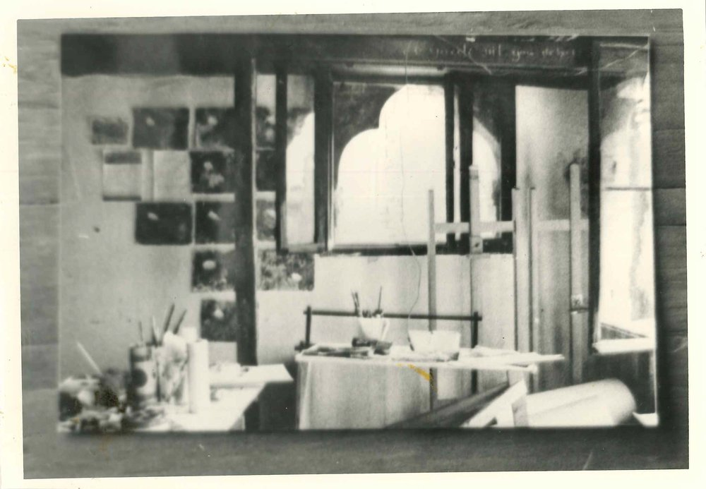 Corner of a studio in Palazzo Fortuny