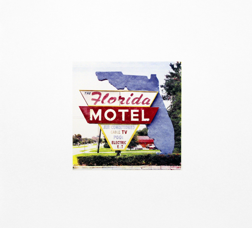 "The Florida Motel, Gainesville, Florida , Four Color Halftone Screen Print, 24"" x 24"", 2011"