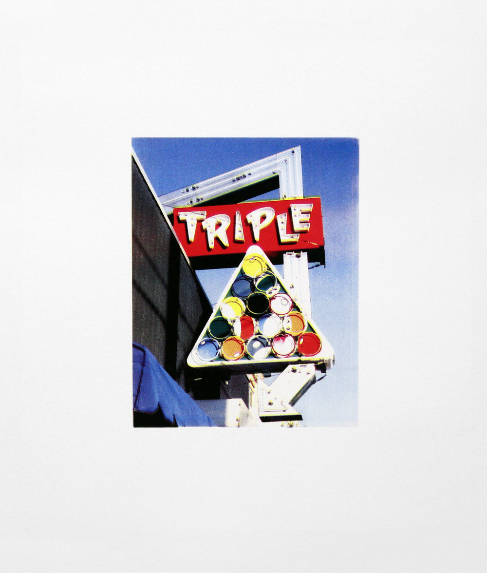 "Triple, Richmond, Virginia , Four Color Halftone Screen Print, 18"" x 24"", 2011"
