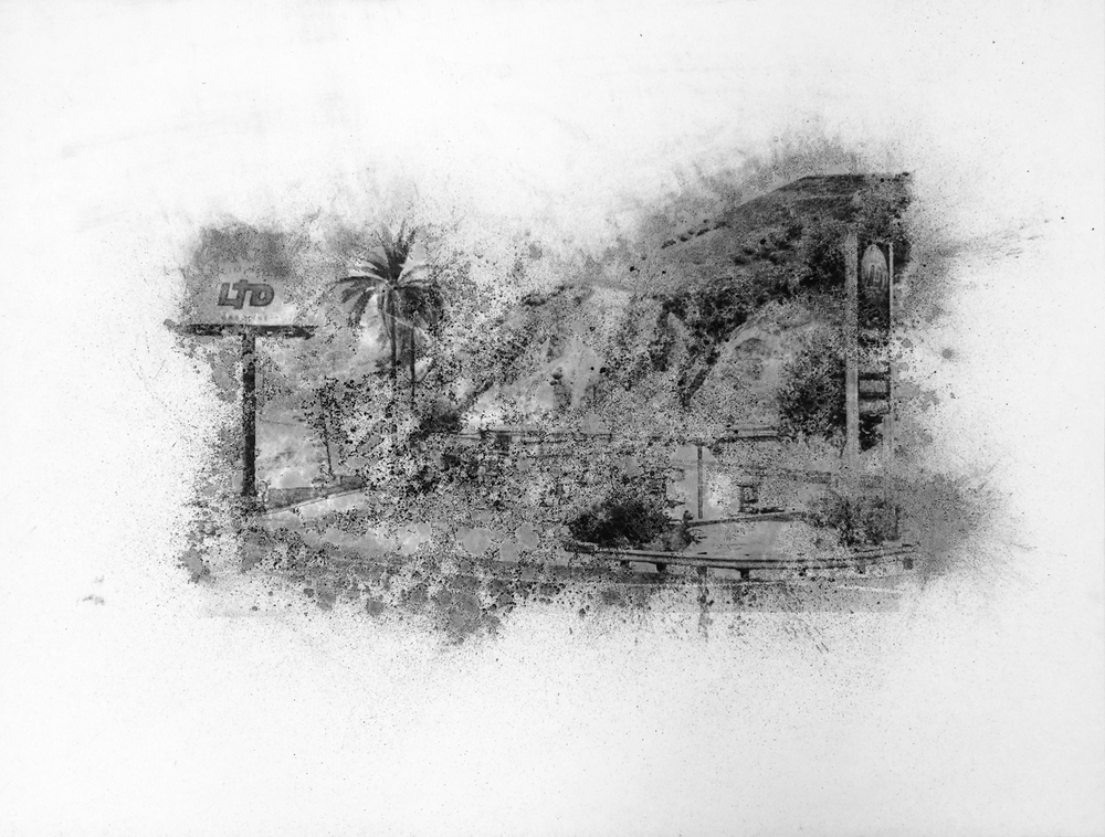 "LTD, Richman Glen,  Charcoal Screen Print, 18""x24"", 2016"