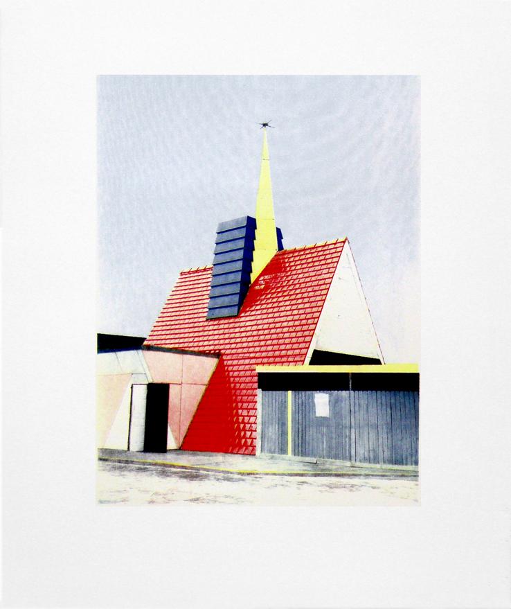 "Station 441 Check Cashing , Orlando, Florida,Four Color Halftone Screen Print, 18"" x 24"", 2013"