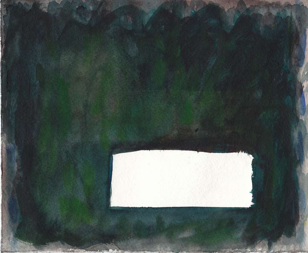 "Black Hill    Watercolor on Paper 12"" x 18""  © 2010    (Green Day Series, 2008-2011)"