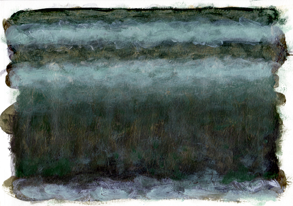 "Field of Reeds, 12   Acrylic on Paper 8.5"" x 11.75"" © 2014"