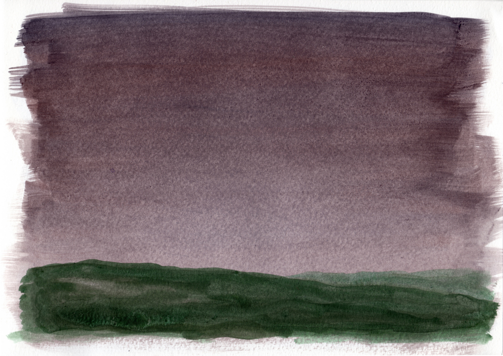 "earth and sky 12   Acrylic on Paper 8.5"" x 11.75"" © 2014"
