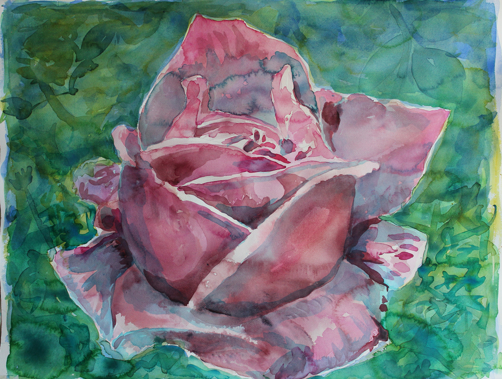 "Postoffice Garden City Rose, 2  Watercolor on 140# Arches WC Paper 22"" x 30"" (55.88cm x 76.2cm) © 2015"