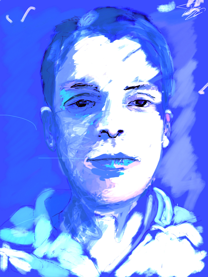 Anant  FBSelfie, ProCreate, Pencil 53, Photoshop, iPad, Desktop Digital Image Dimensions Variable © SP/MWW.2015