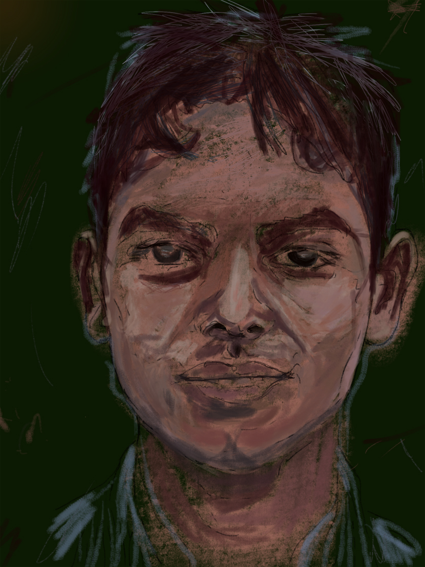 Shishir  FBSelfie, ProCreate, Pencil 53, Photoshop, iPad, Desktop Digital Image Dimensions Variable © SP/MWW.2015