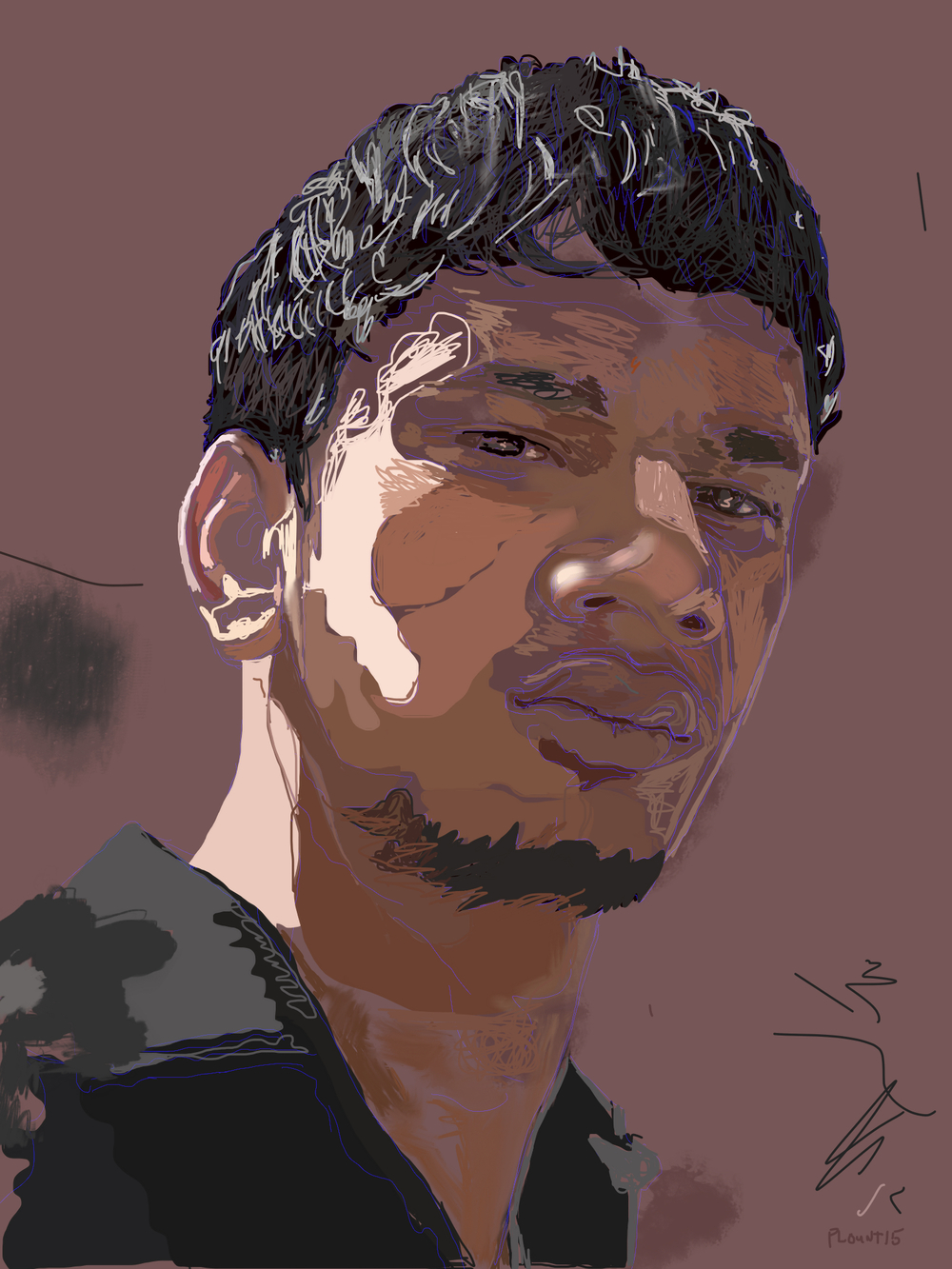 Alok  FBSelfie, ProCreate, Pencil 53, Photoshop, iPad, Desktop Digital Image Dimensions Variable © SP/MWW.2015