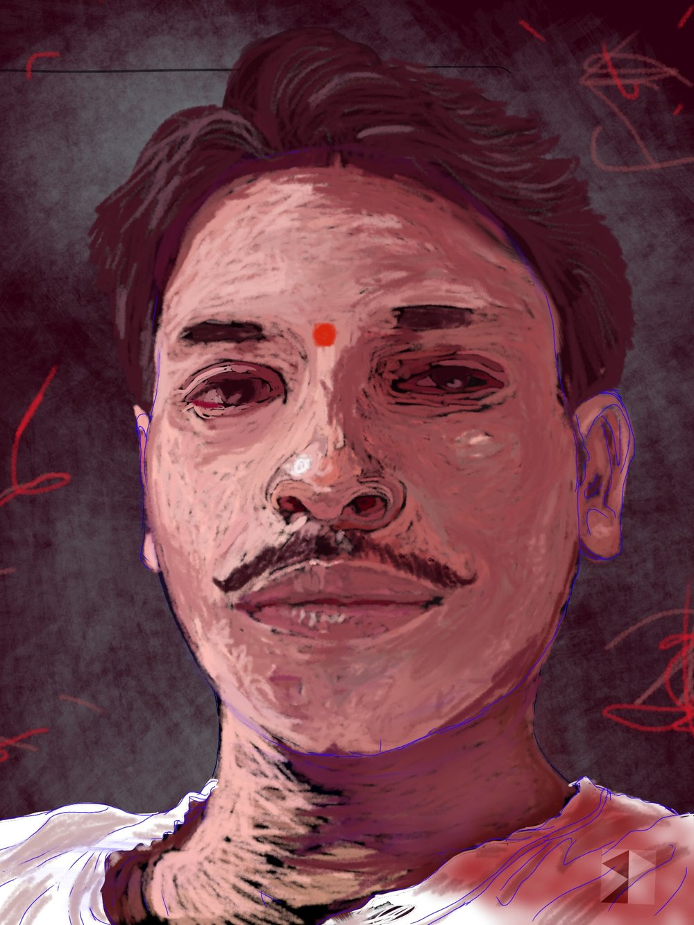 Mahesh,   FBSelfie, ProCreate, Pencil 53, Photoshop, iPad, Desktop Digital Image Dimensions Variable © SP/MWW.2015