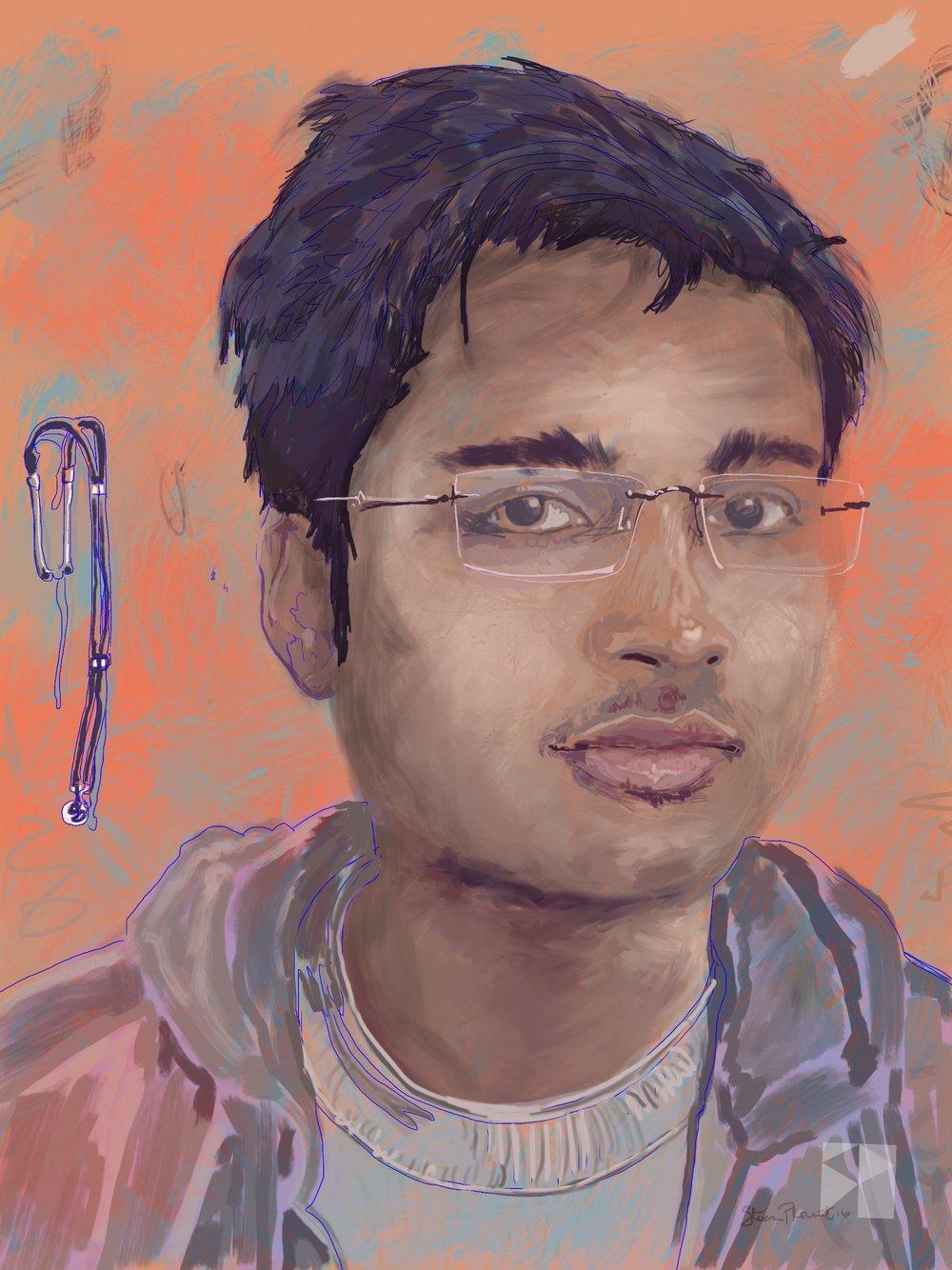 Shankar   FBSelfie, ProCreate, Apple Pencil, Photoshop, iPad, Desktop Digital Image Dimensions Variable © SP.2017