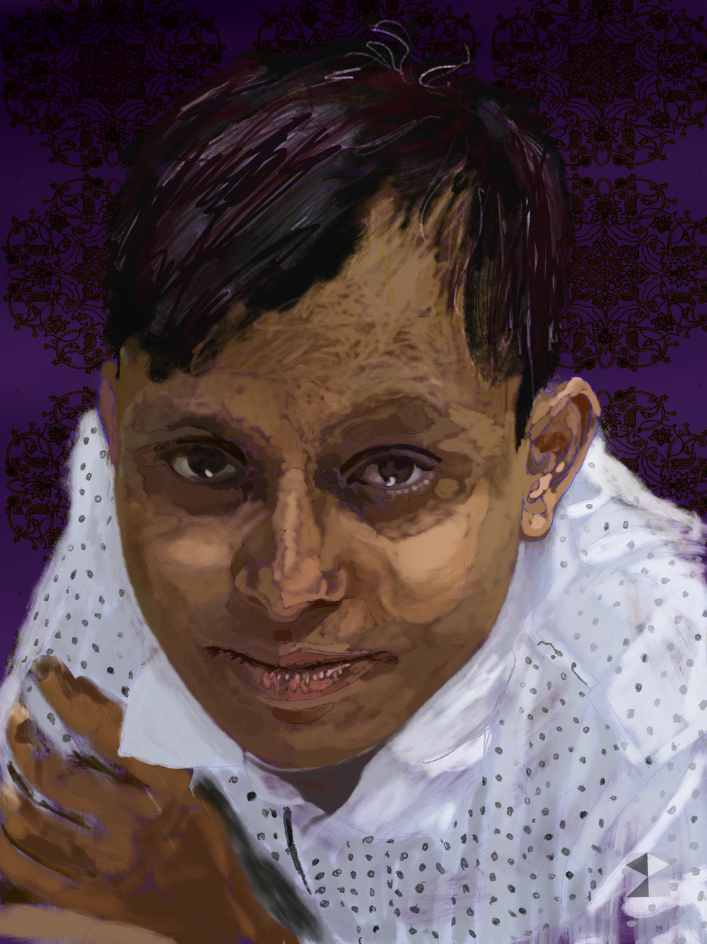 Bhakta    FBSelfie, ProCreate, Apple Pencil, Photoshop, iPad, Desktop Digital Image Dimensions Variable © SP.2018