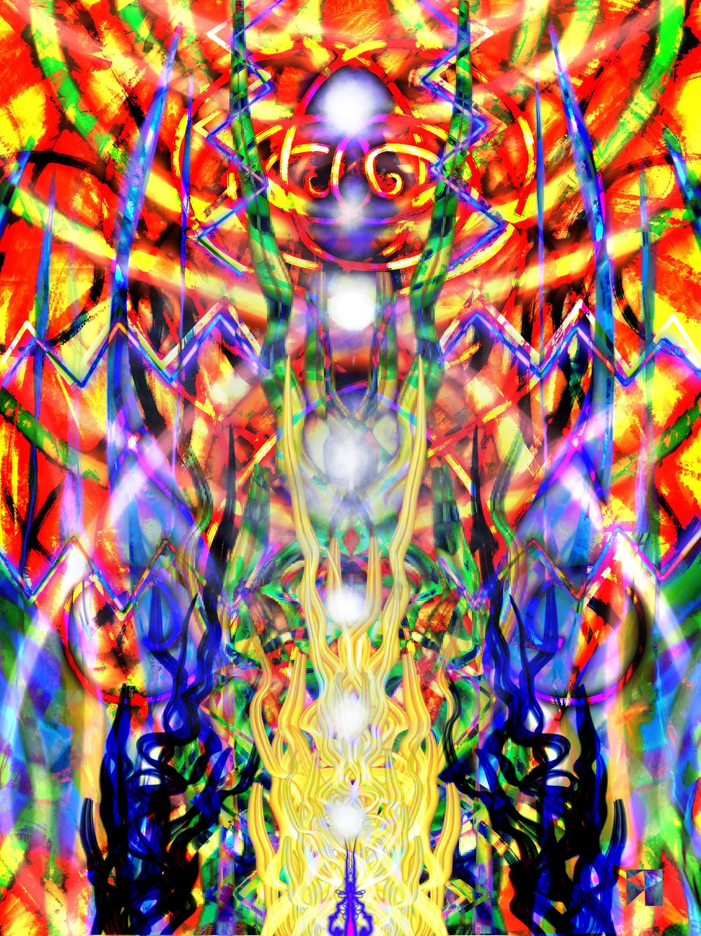 Fire   Electronic Painting  Maya 2019 SP  dimensions variable