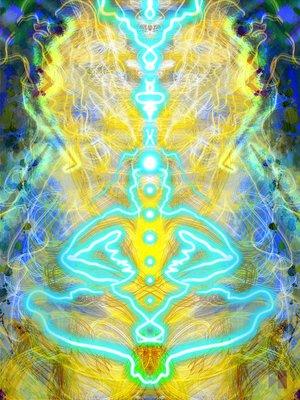 Vibration   Electronic Painting  Maya Series 2019  dimensions variable