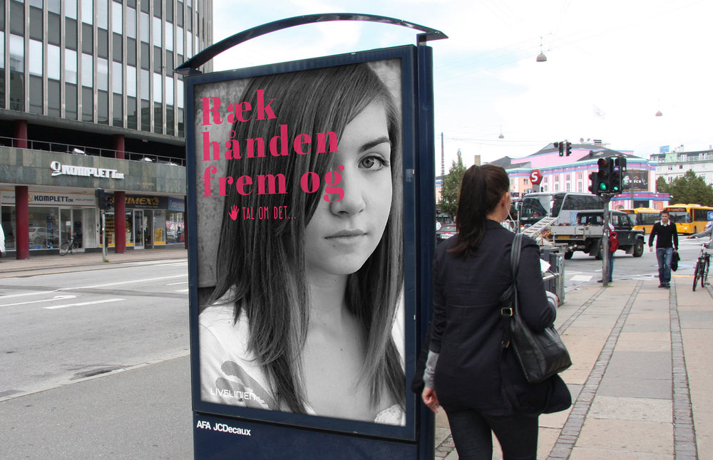 Example of poster as seen in the streets