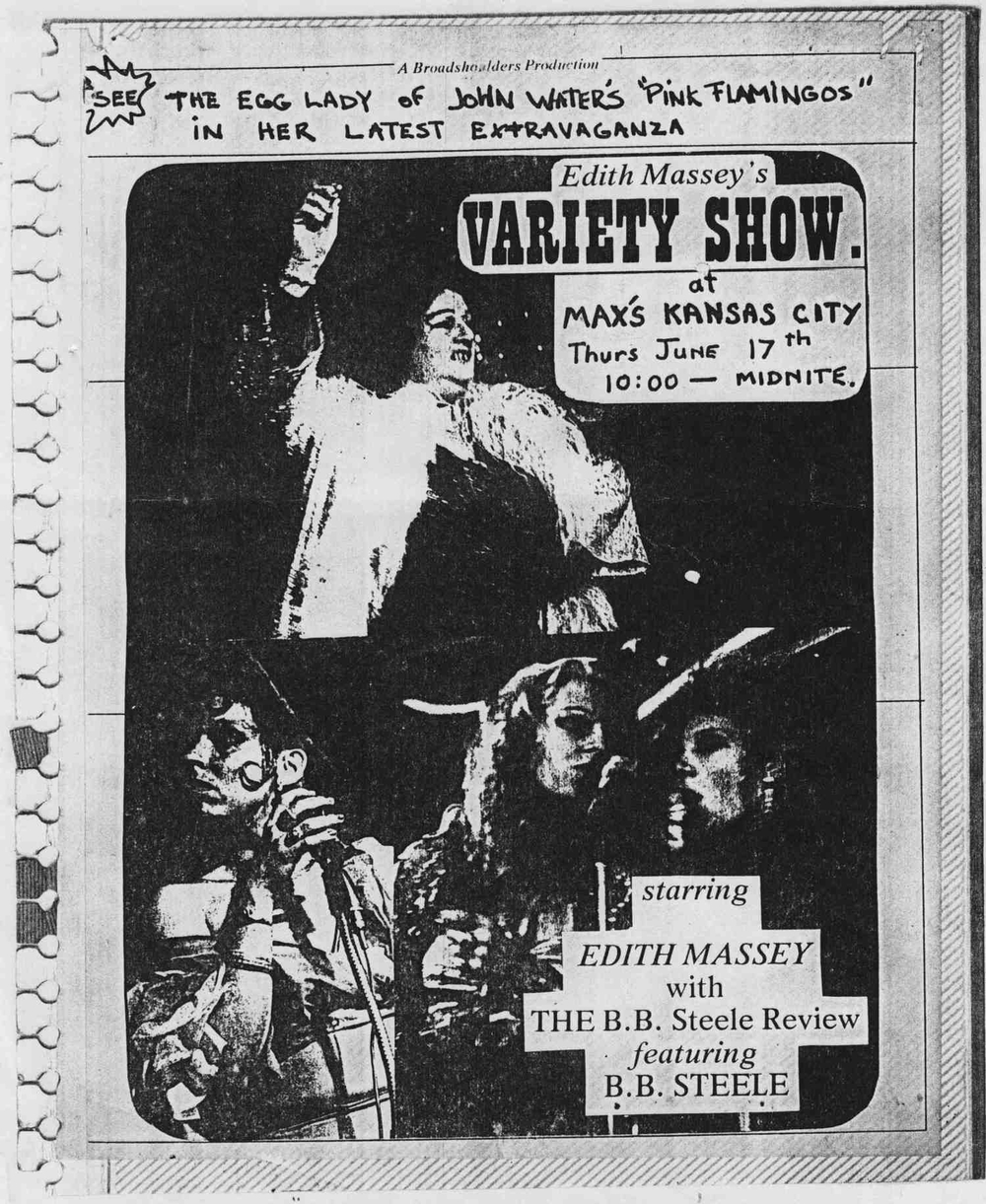 Flyer for The B.B. Steele Review, 1975