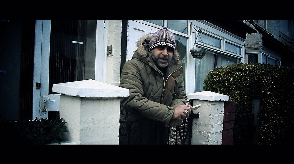 UK Apache (aka Abdul Wahab) outside the family home in Tooting
