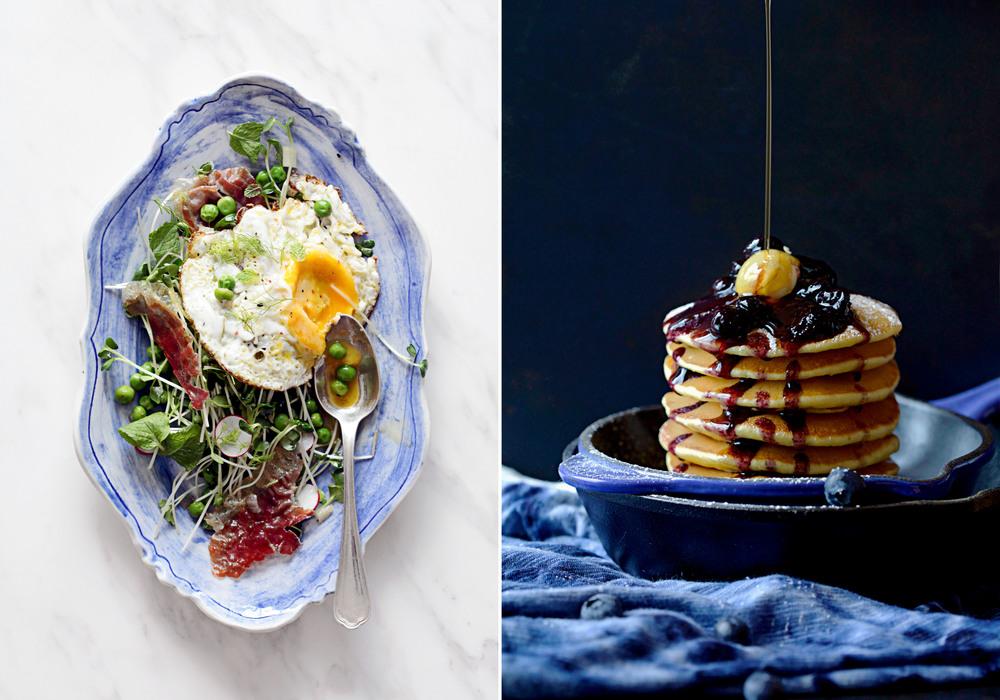 A Salad Full of Spring & Blueberry Lemon Pancakes
