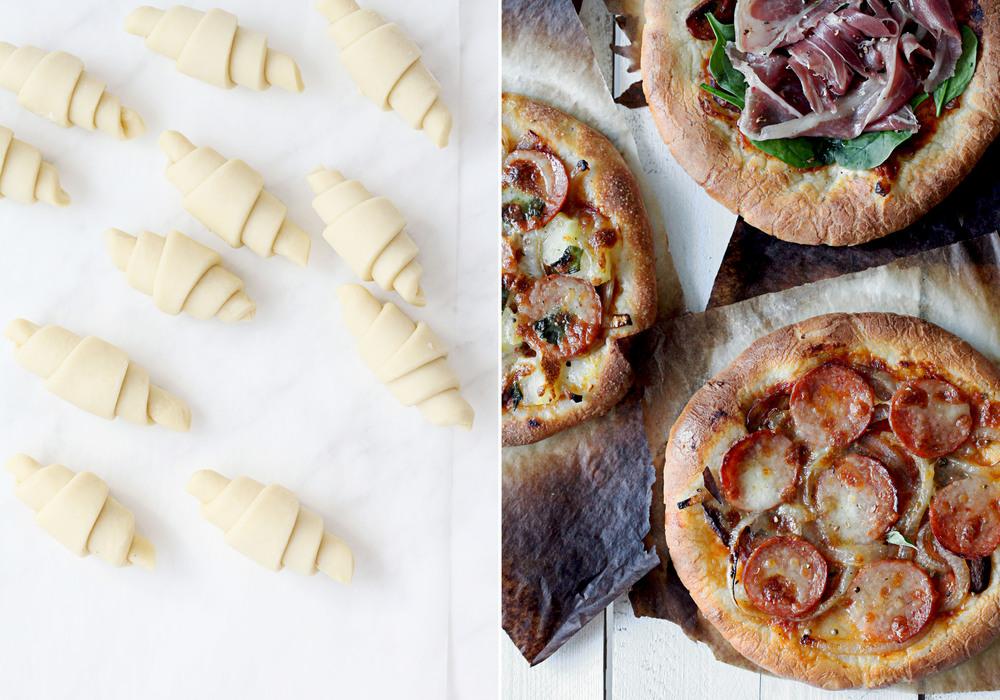 Pâte á Croissant & Homemade Pizzas