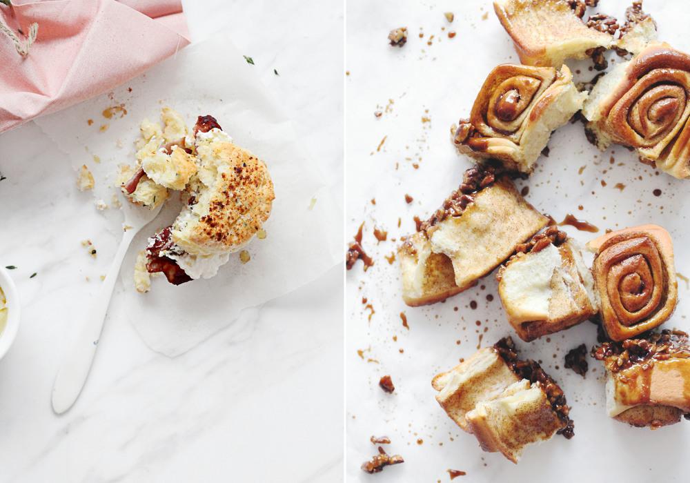 Savoury Feta-Chive Scones & Sticky Molasses Cinnamon Buns