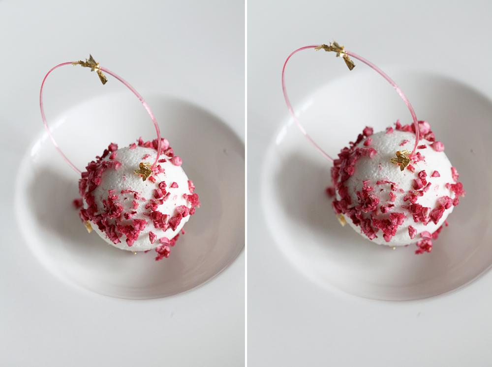Christmas 2014; Spheric Eton Mess of Almond, Strawberry and Rhubarb