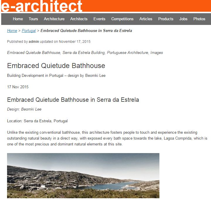 e-architect - Bathhouse in Portugal