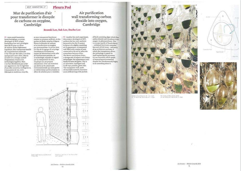 L'Architecture d'Aujourd'hui - Pleura Pod (Printed  Publication )