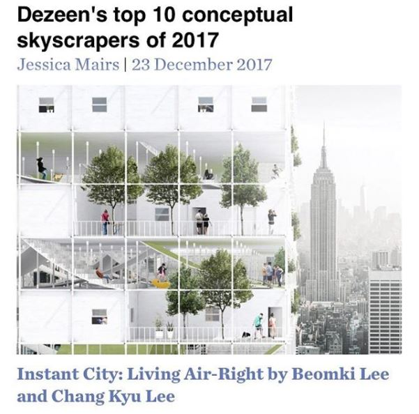 Dezeen's Top 10 Skyscrapers of 2017 - Instant City: Living Air-Right