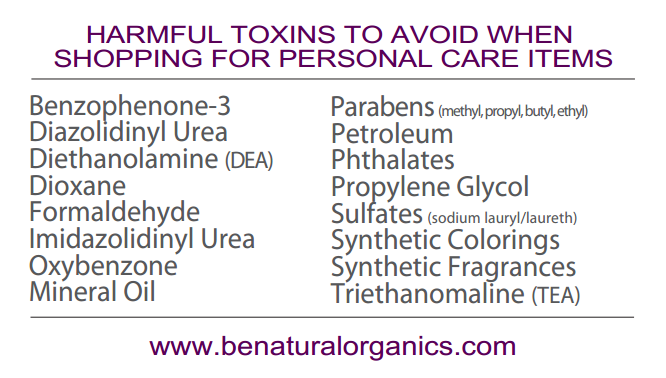 Toxins to avoid