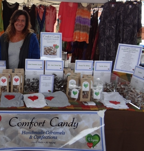 Comfort Candy stall at the farmers market