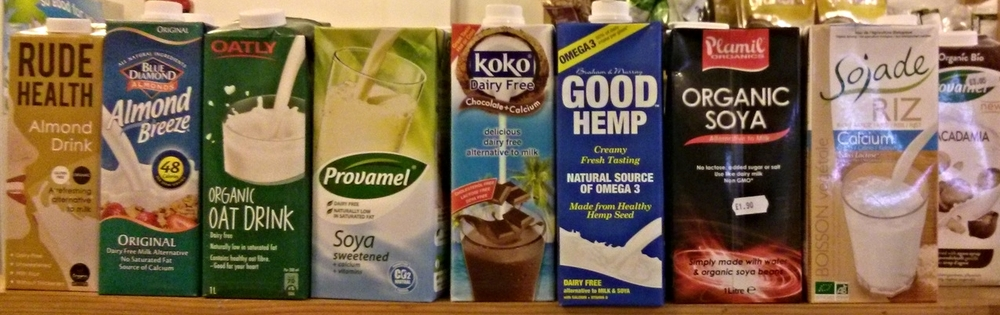 The many vegan alternative milks