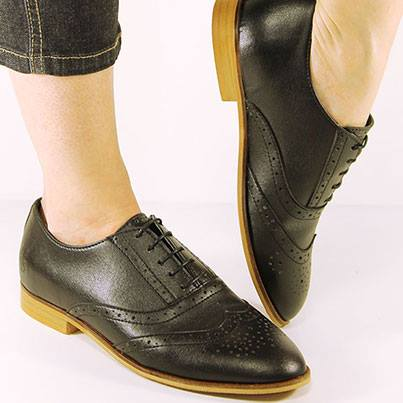 Black City Brogues for Women