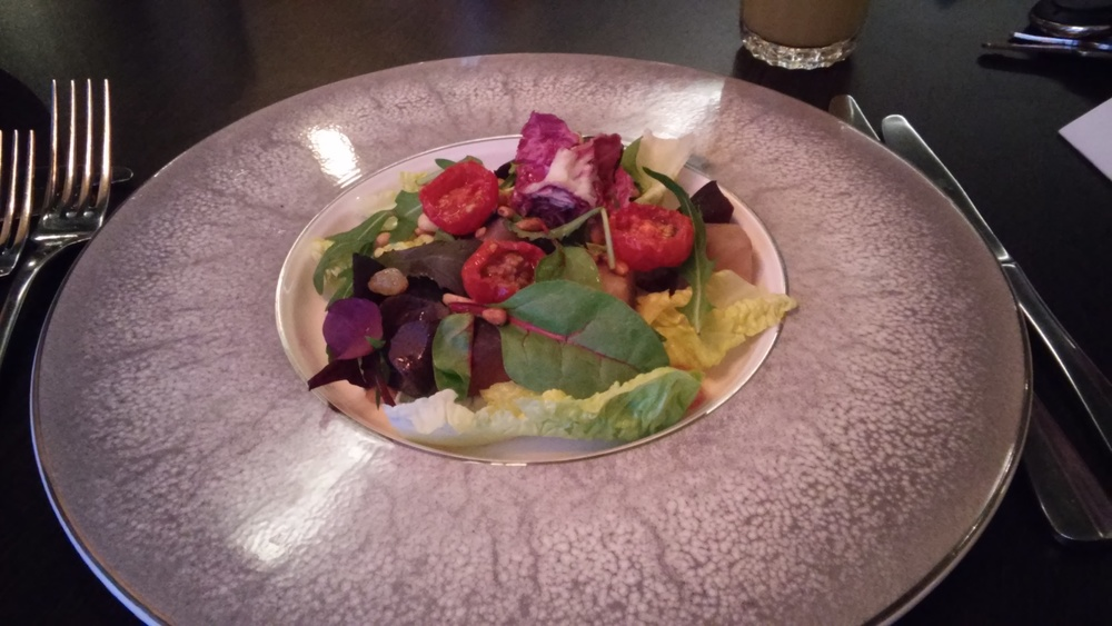 Salad from the vegan menu