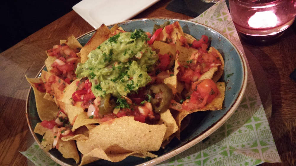 Nachos using corn tortilla