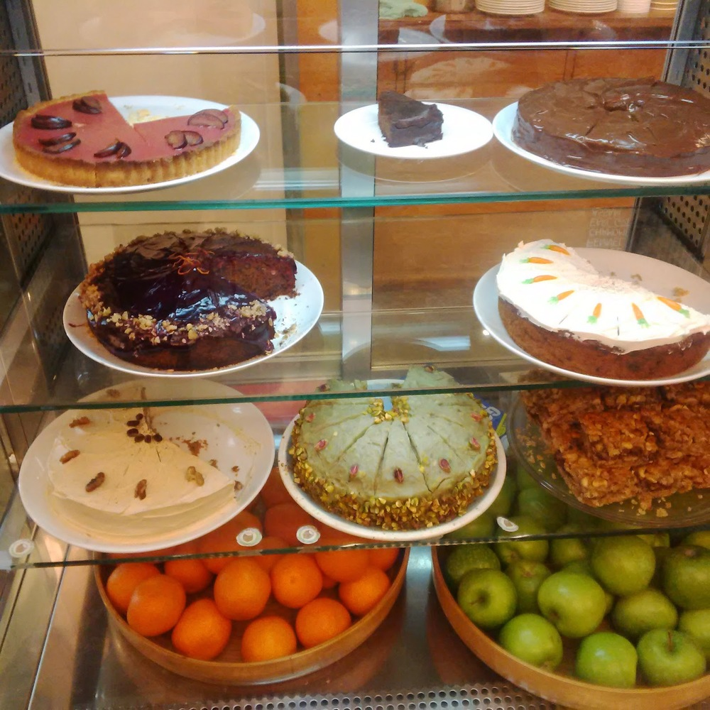 Display of Vegan cakes - Earth Cafe.jpg