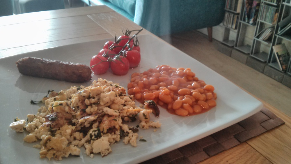 Link to a vegan alternative to a traditional English breakfast