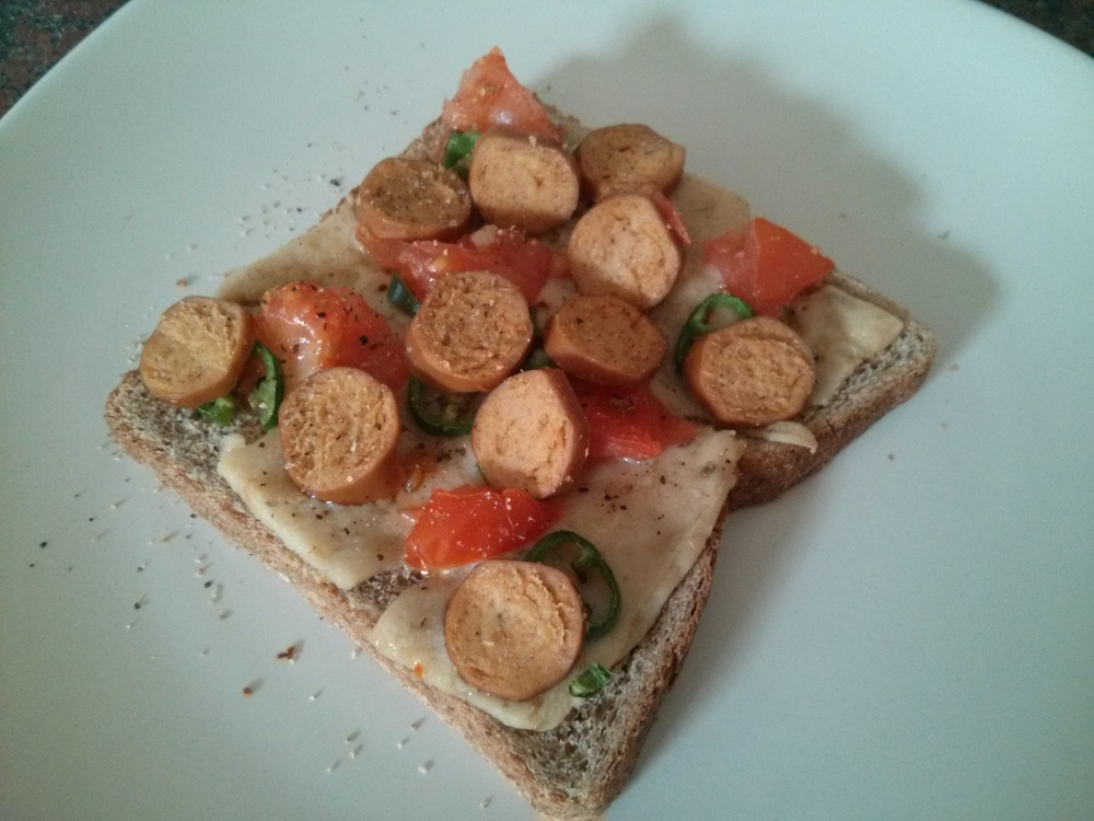Link to recipe for savoury toppings on toast