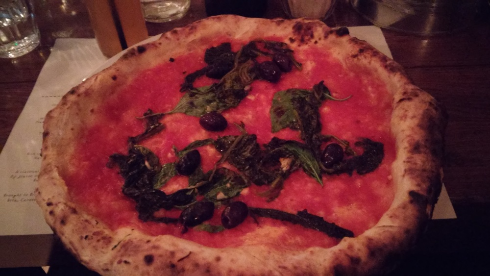 Link to vegan options at Franco Manca
