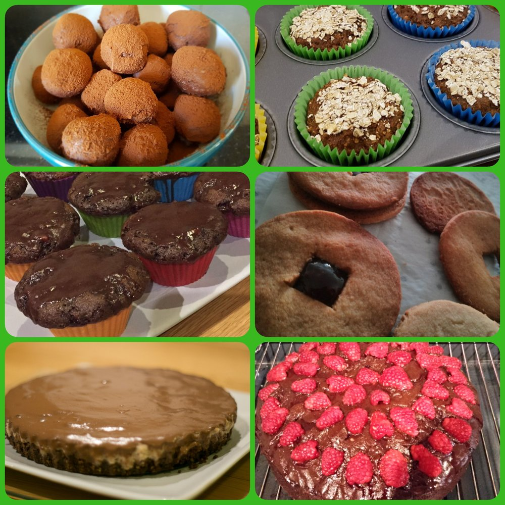 Collage of a few desserts