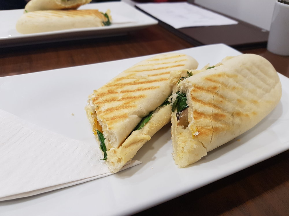 Vegan Panini at The Chocolate Room