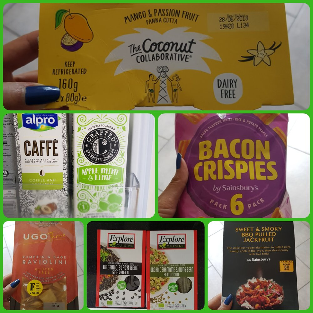 Vegan items in Sainsbury's
