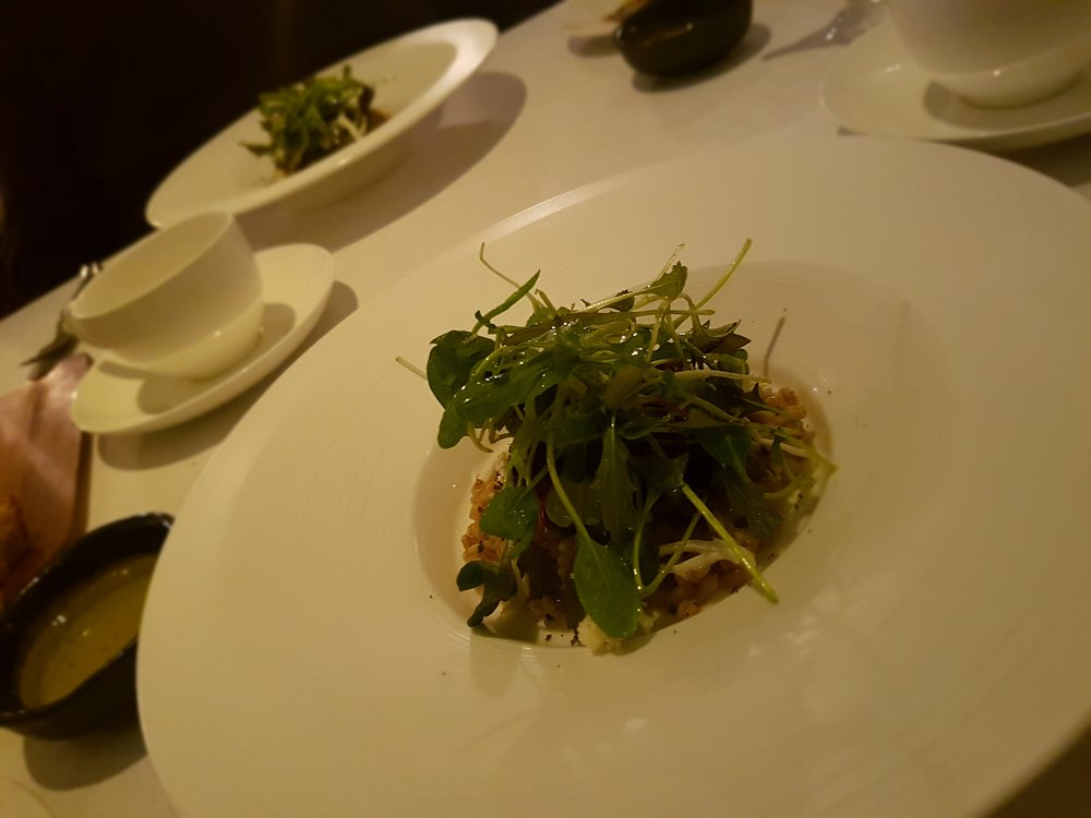From the vegan tasting menu at Pied à Terre