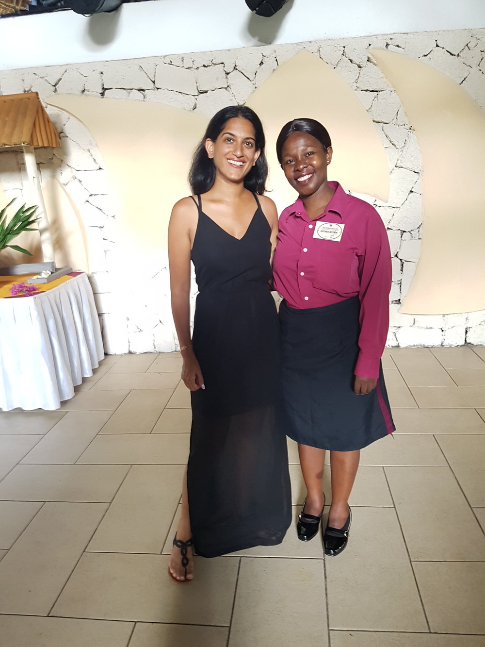 With Esther, the Assistant Restaurant Manageress of Southern Palms Resort