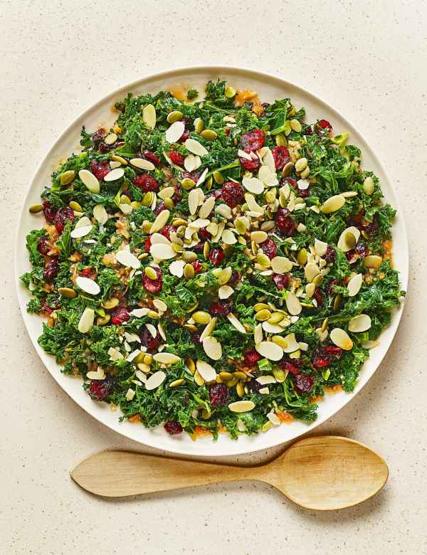 M & S - kale and cranberry salad with orange and ginger dressing.jpg