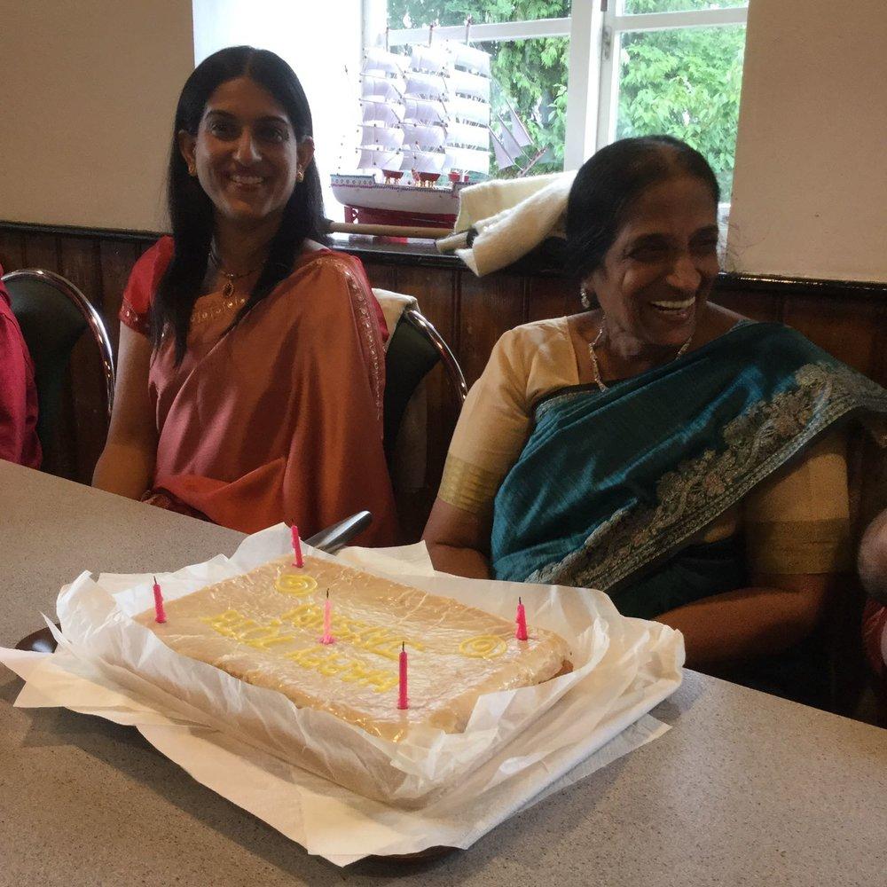 Mum's vegan birthday cake