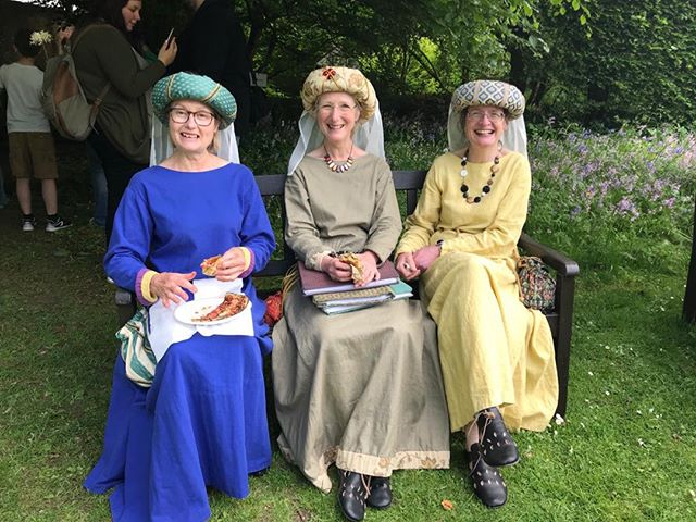 Ladies who lunch! The Gargoyles enjoy a snack at the Medieval Fayre today. Fun times and we'll be doing it all again tomorrow!